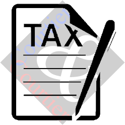 Icon of a paper with the heading TAX